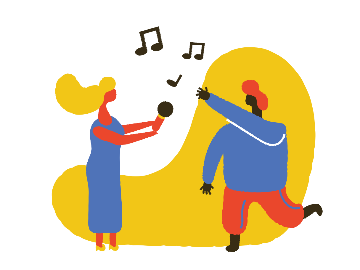 Music party Clipart illustration in PNG, SVG