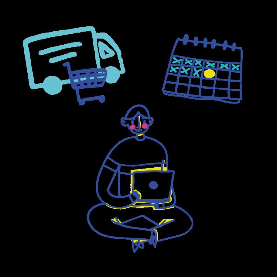 Making order Clipart illustration in PNG, SVG