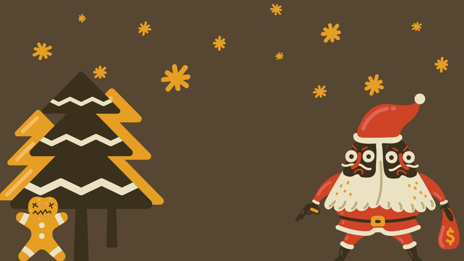 Santa chooses the dark side Clipart illustration in PNG, SVG