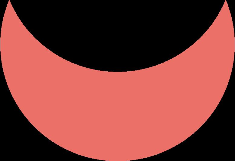 crescent pink antique Clipart illustration in PNG, SVG