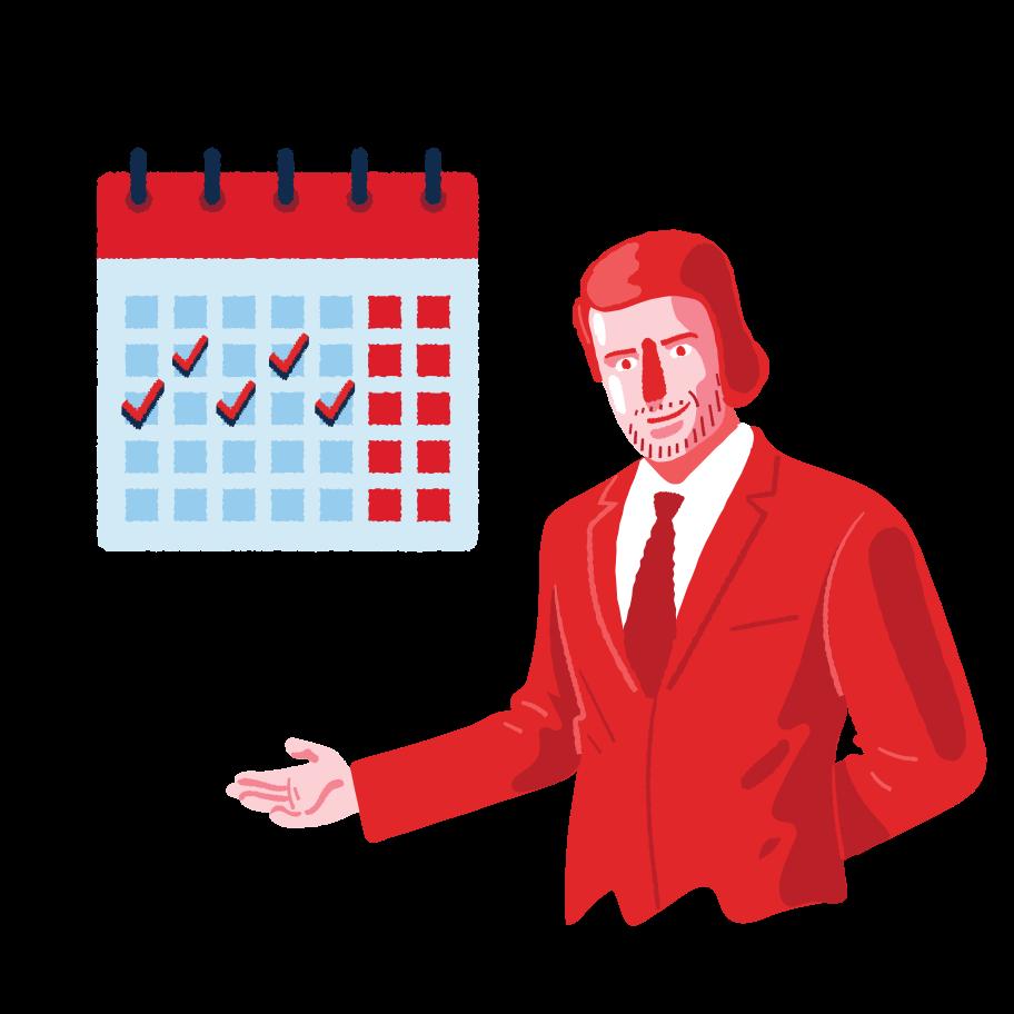 Business calendar Clipart illustration in PNG, SVG