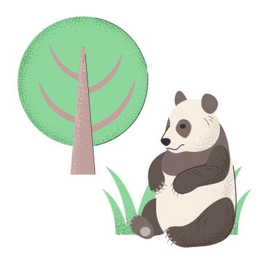 style Panda under the tree images in PNG and SVG | Icons8 Illustrations
