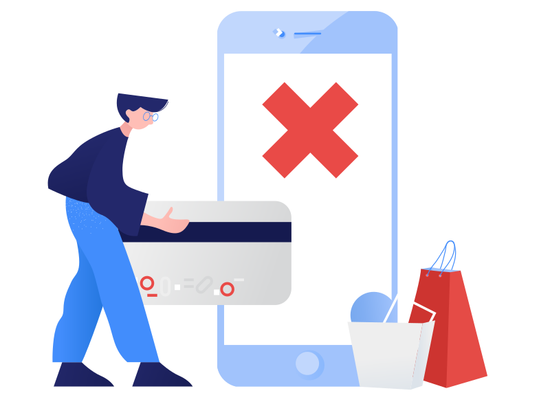 style Payment failed Vector images in PNG and SVG | Icons8 Illustrations