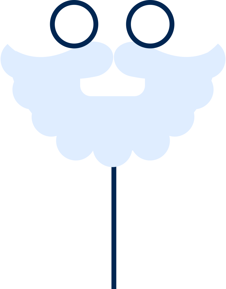 santa mask Clipart-Grafik als PNG, SVG