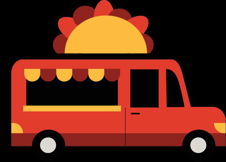 Immagine Vettoriale camion di cibo in PNG e SVG in stile  | Illustrazioni Icons8