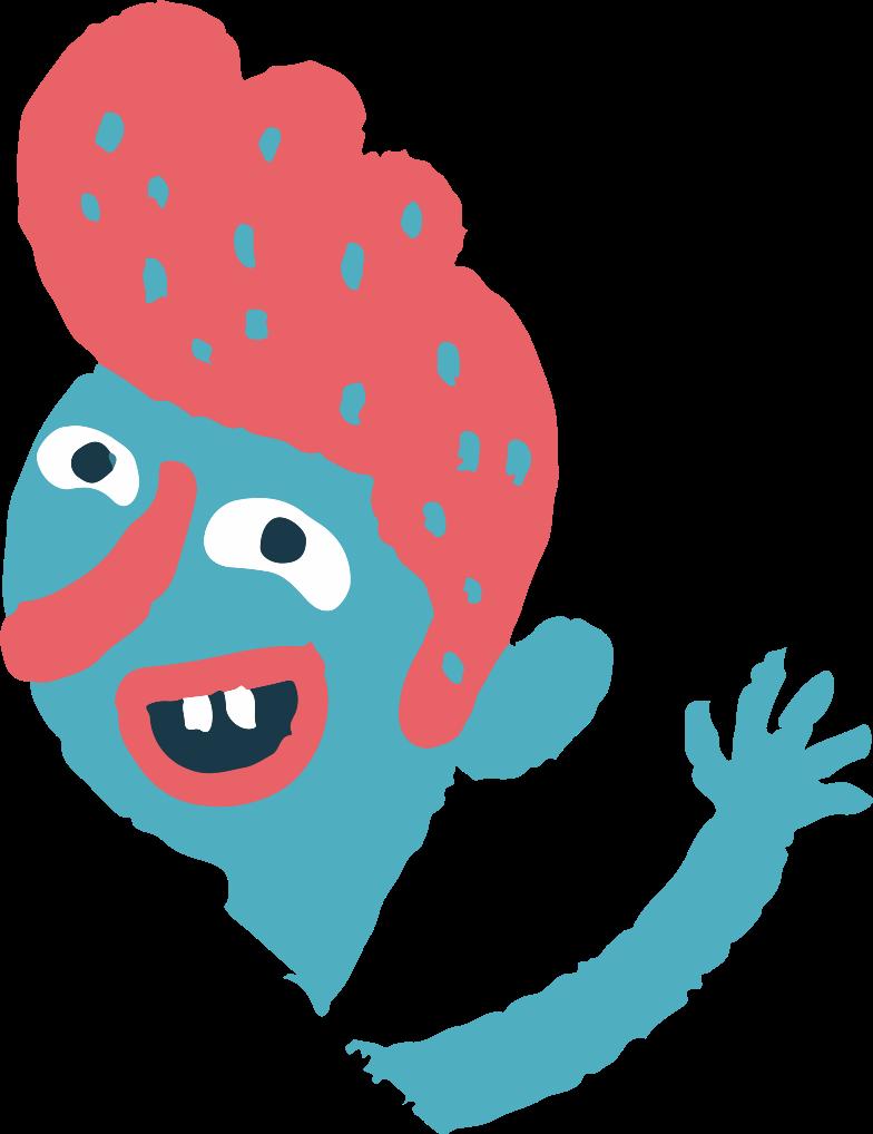 waving man Clipart illustration in PNG, SVG