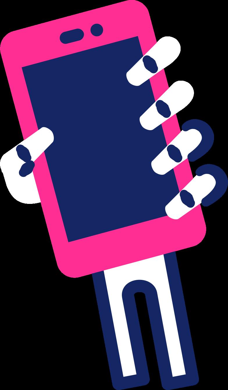 Skeletthand mit smartphone Clipart-Grafik als PNG, SVG