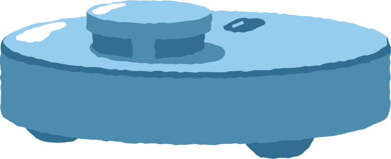 robotic vacuum cleaner Clipart illustration in PNG, SVG