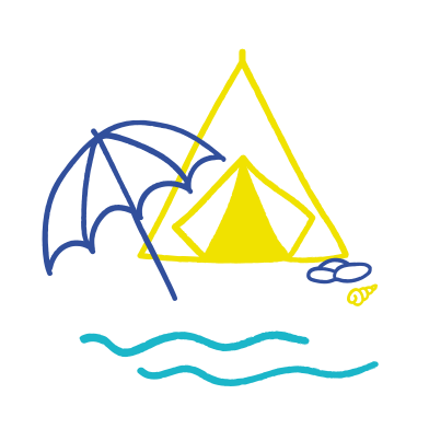 style Camping near the sea images in PNG and SVG | Icons8 Illustrations