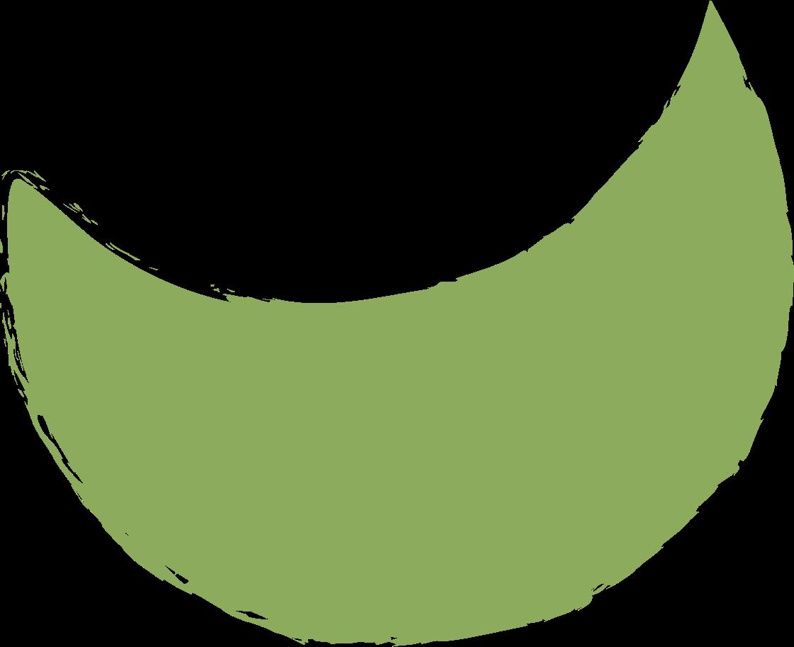 crescent-dark-green Clipart illustration in PNG, SVG