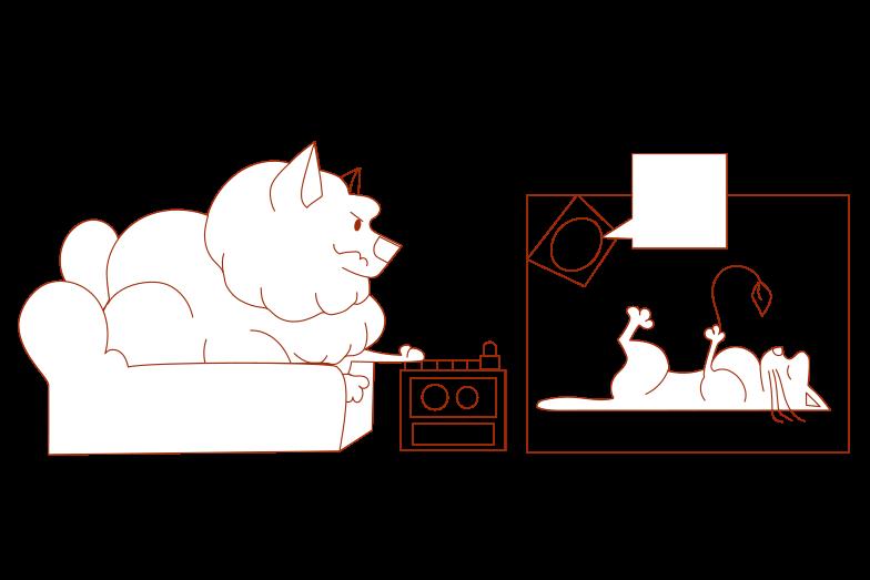 Illustration clipart Travail à distance aux formats PNG, SVG