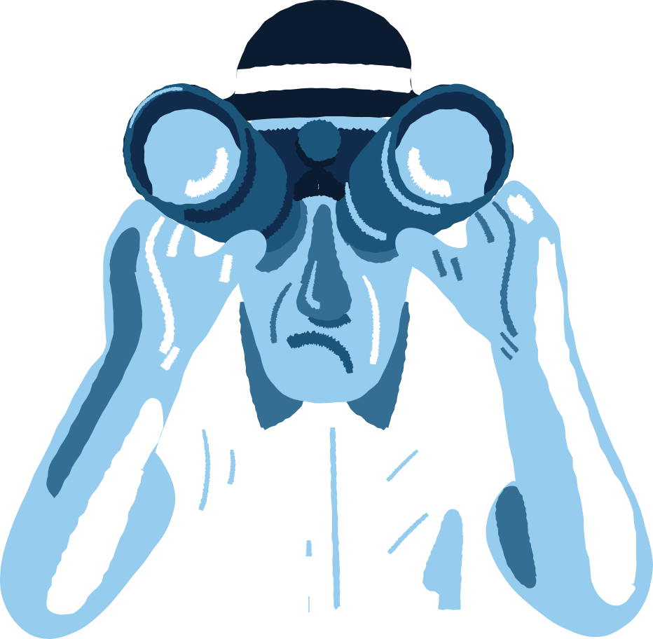 man with binoculars Clipart illustration in PNG, SVG