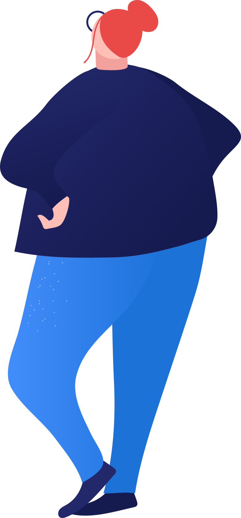 fat woman back Clipart illustration in PNG, SVG