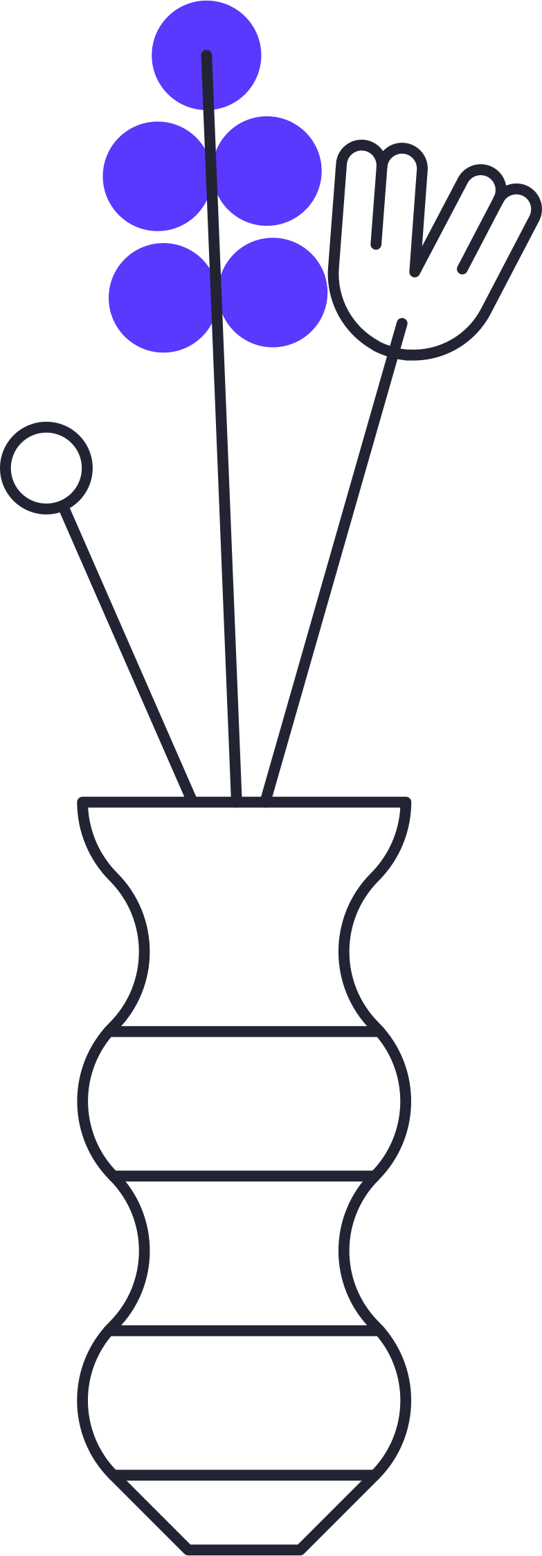 growing up  flowers in vase Clipart illustration in PNG, SVG
