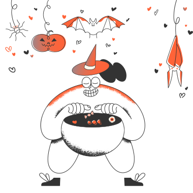 style Trick or treat! images in PNG and SVG | Icons8 Illustrations