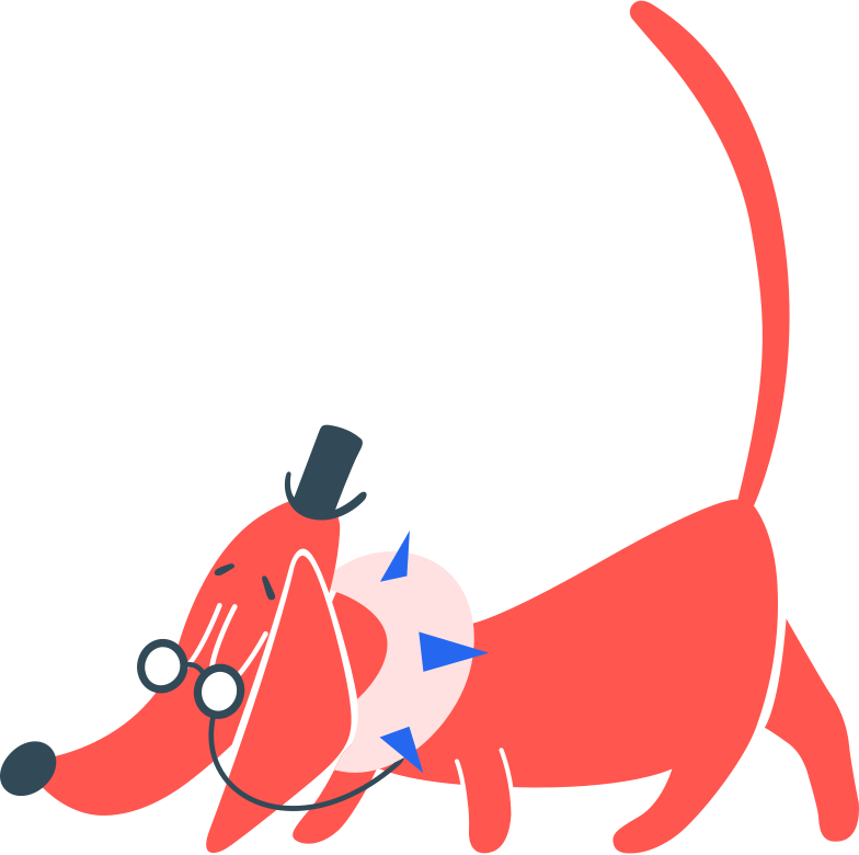dog in clothes with glasses Clipart illustration in PNG, SVG