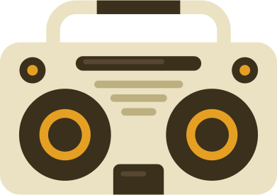 style music player boombox images in PNG and SVG | Icons8 Illustrations