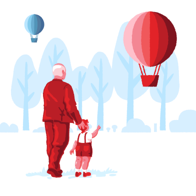 style Hot air balloon flies away images in PNG and SVG | Icons8 Illustrations