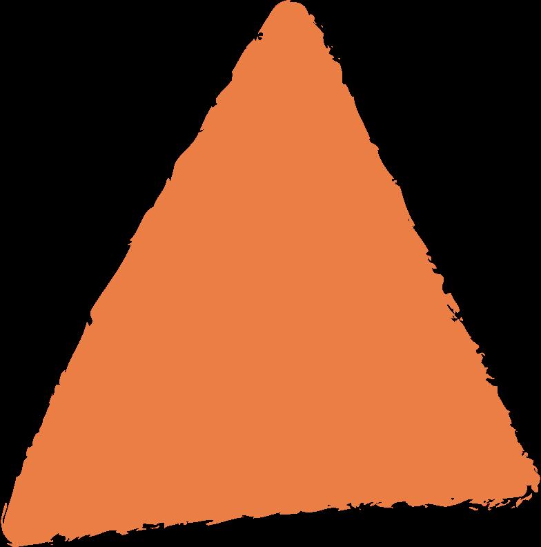 triangle-orange Clipart illustration in PNG, SVG