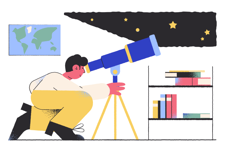 Astronomer Clipart illustration in PNG, SVG