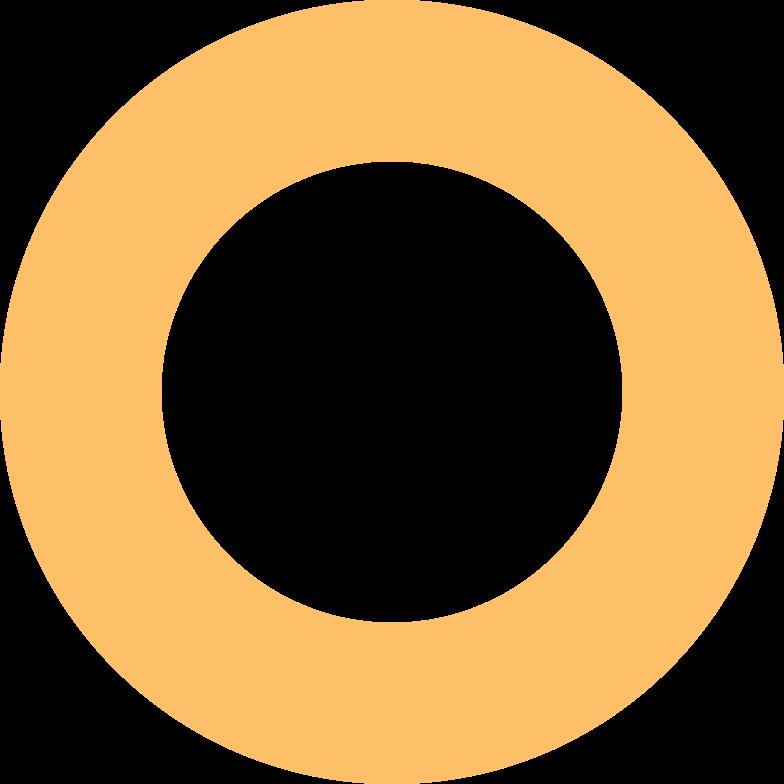 ring orange Clipart illustration in PNG, SVG