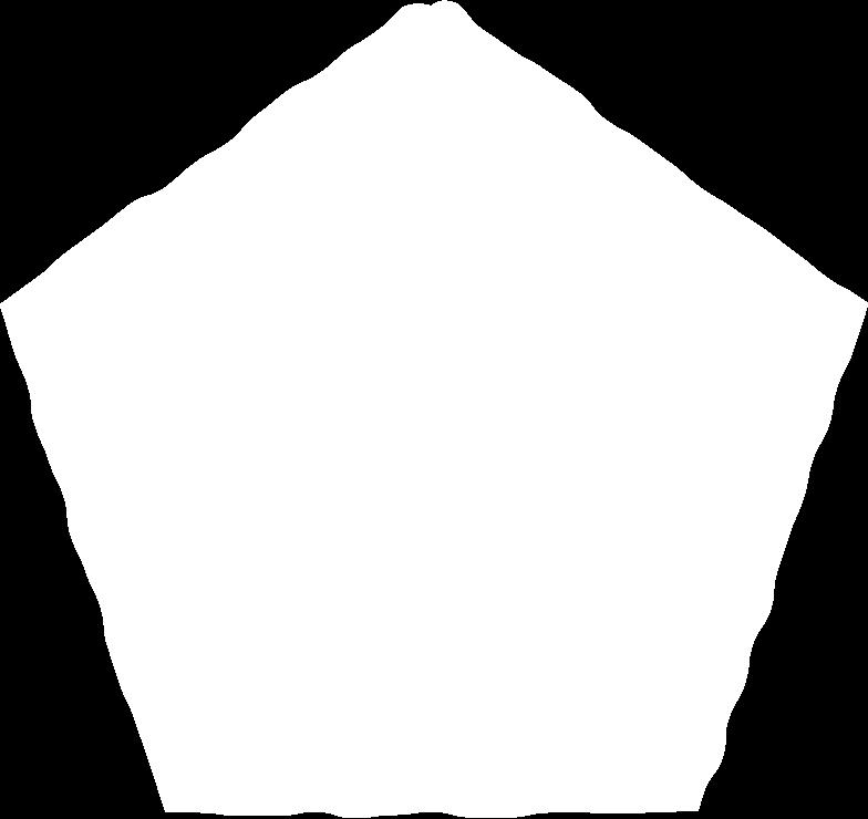 pentagon white Clipart illustration in PNG, SVG