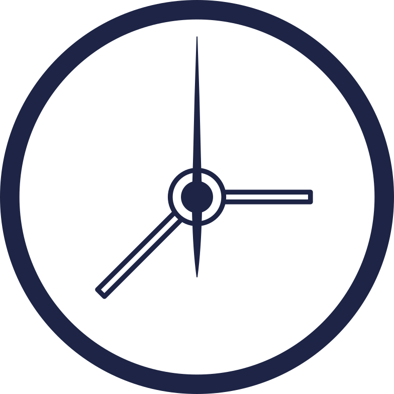 waiting  clock line Clipart illustration in PNG, SVG