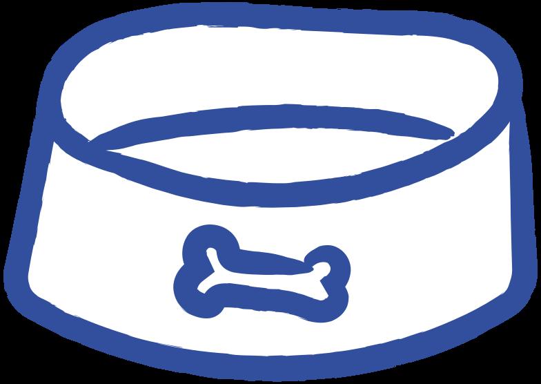 dog bowl Clipart illustration in PNG, SVG