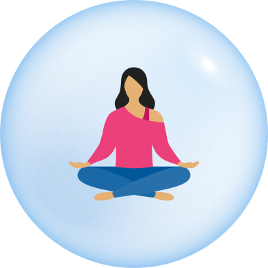 style woman in bubble self isolation images in PNG and SVG | Icons8 Illustrations