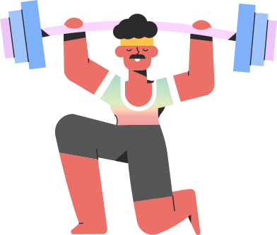 style sportsman barbell images in PNG and SVG | Icons8 Illustrations