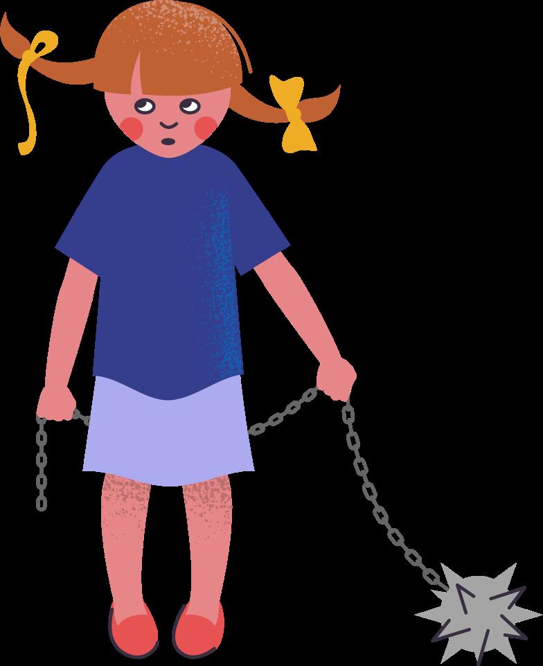 Garota mau Clipart illustration in PNG, SVG