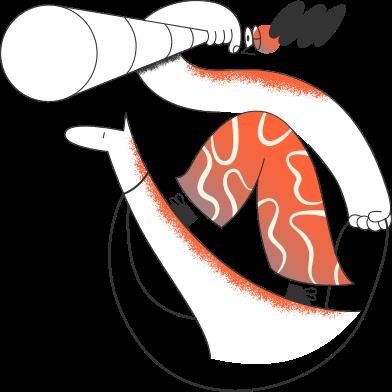 Иллюстрация девушка на лошади с телескопом в стиле  в PNG и SVG | Icons8 Иллюстрации