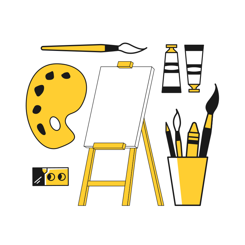 Art supplies Clipart illustration in PNG, SVG