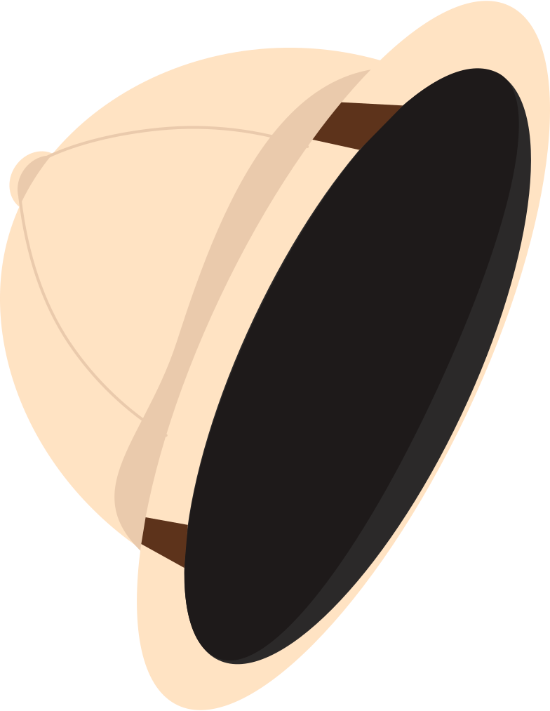 Safari hat Clipart illustration in PNG, SVG
