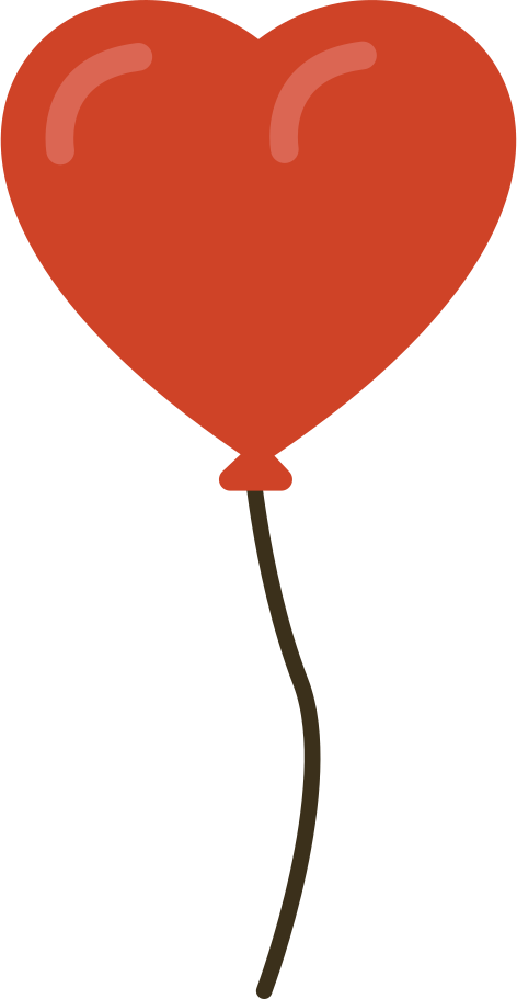 balloon heart Clipart illustration in PNG, SVG