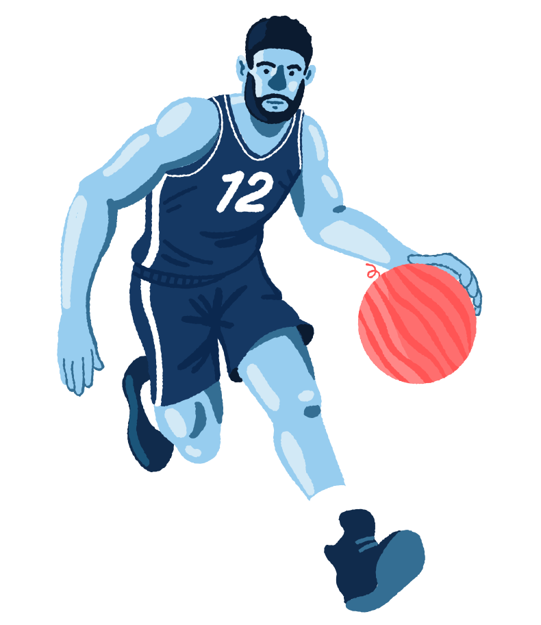 Unusual basketball Clipart illustration in PNG, SVG