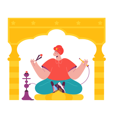 style Hookah smoker images in PNG and SVG | Icons8 Illustrations