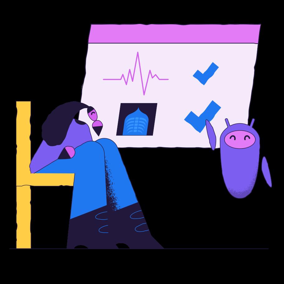 Illustration clipart L'iot dans le secteur de la santé aux formats PNG, SVG