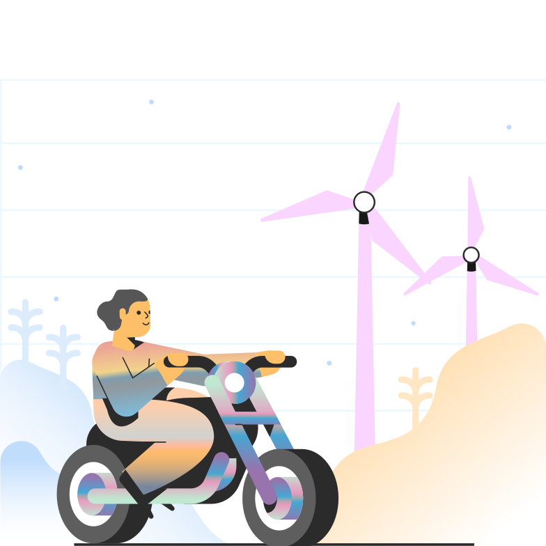 Motorcycling Clipart illustration in PNG, SVG