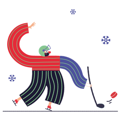 style Playing hockey images in PNG and SVG | Icons8 Illustrations