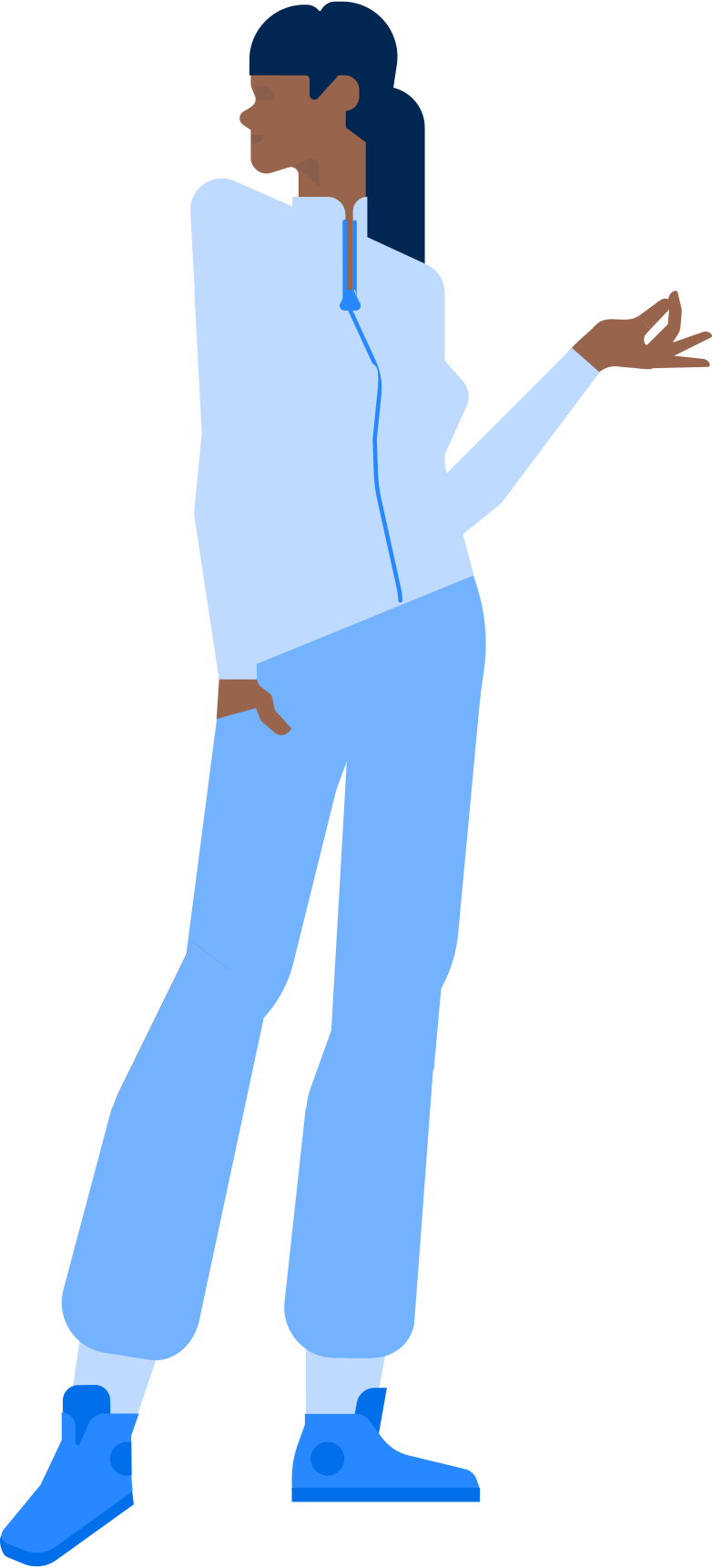 woman holding something Clipart illustration in PNG, SVG