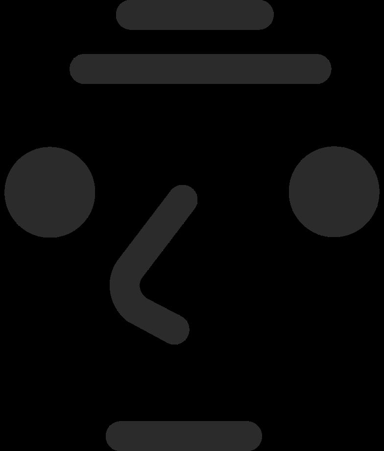 old neutral face Clipart illustration in PNG, SVG