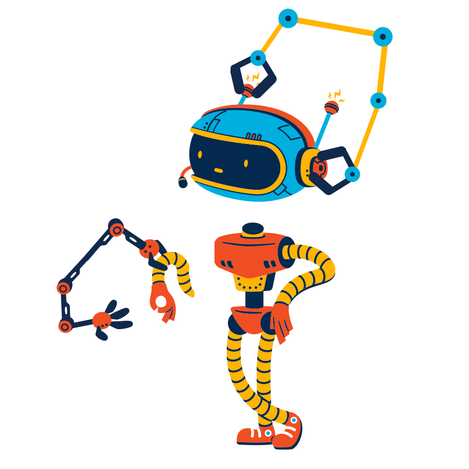 Building a robot Clipart illustration in PNG, SVG