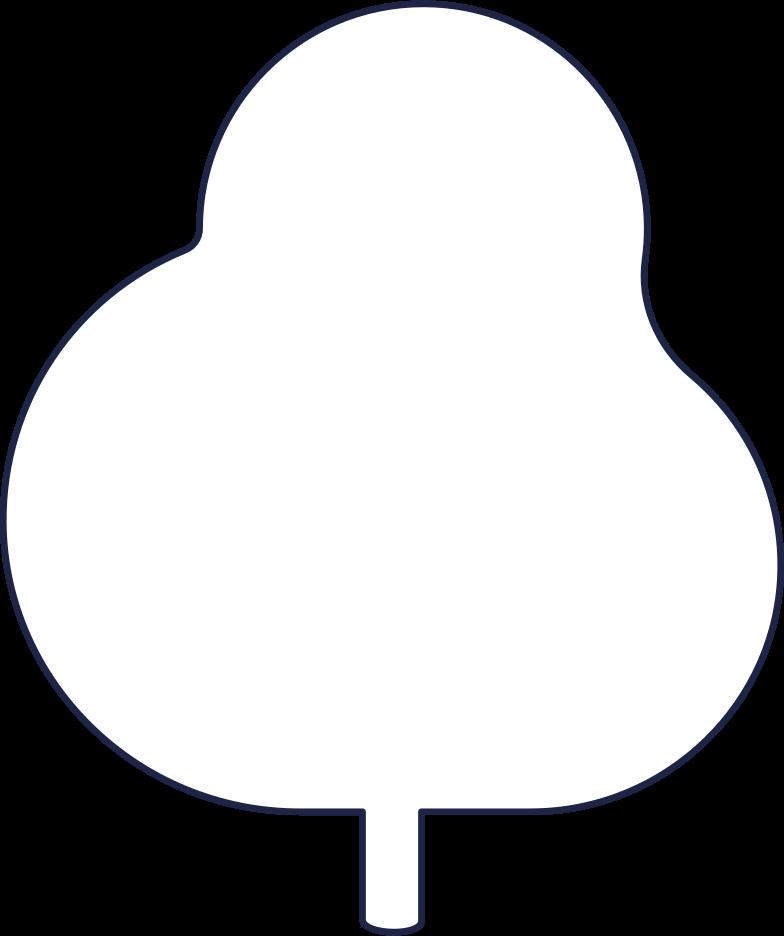 tree 2 line Clipart illustration in PNG, SVG