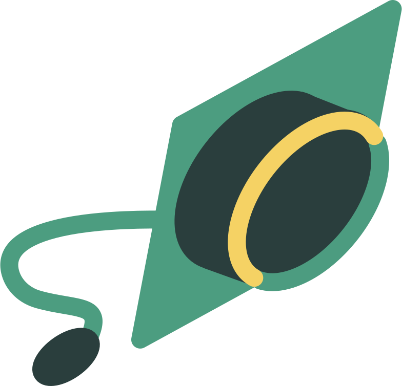 student hat Clipart illustration in PNG, SVG