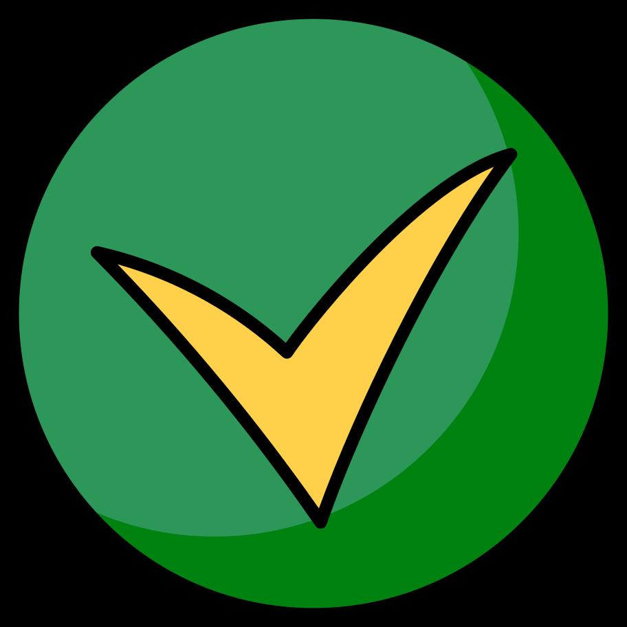 Ilustración de clipart de Ronda de marca de verificación en PNG, SVG