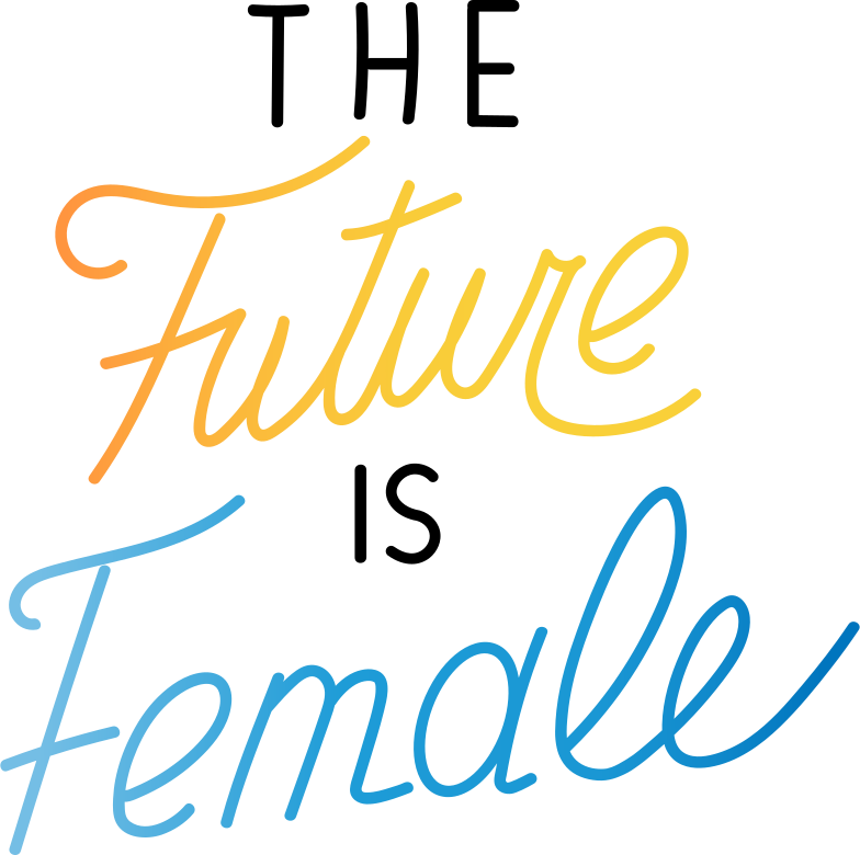 the future is female Clipart illustration in PNG, SVG