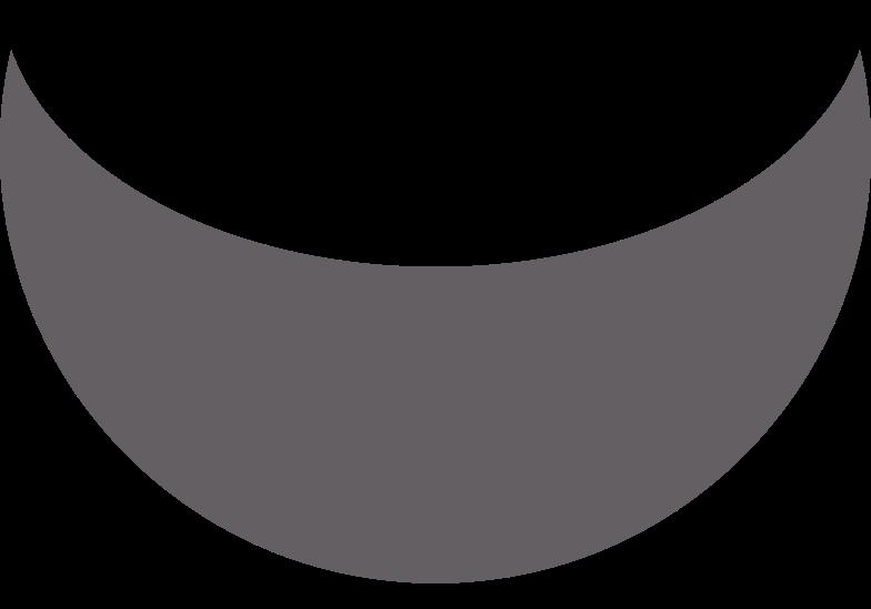 crescent grey Clipart illustration in PNG, SVG