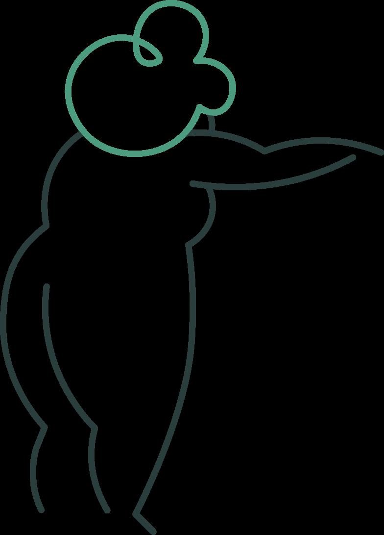 grandmother points back Clipart illustration in PNG, SVG