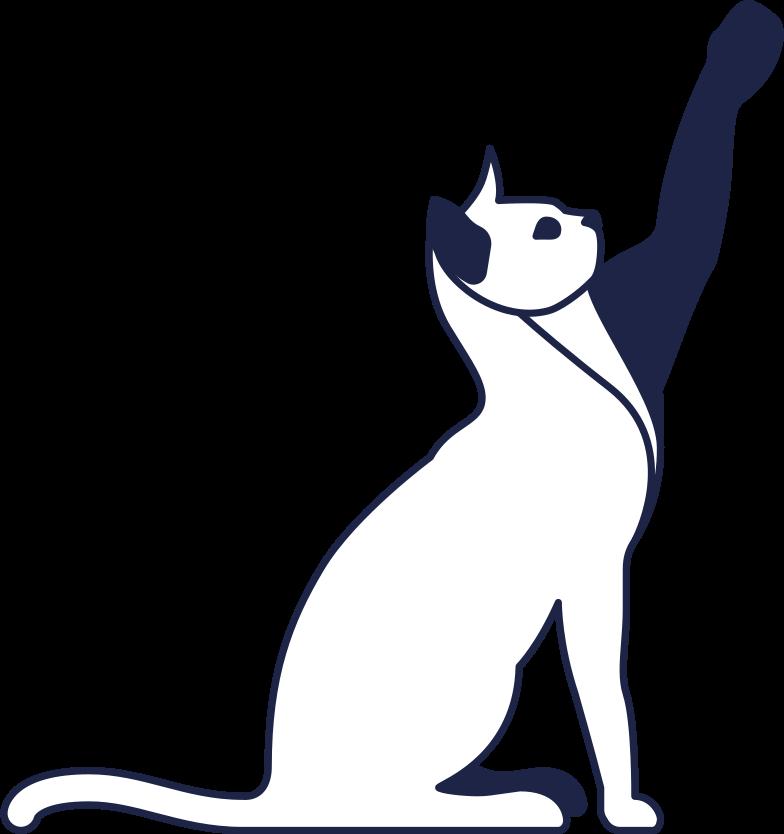 success  cat line Clipart illustration in PNG, SVG